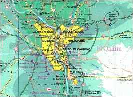 業務対象地域図(カイロ市及び周辺)