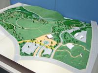 ミュージアムパークの模型(1/500)