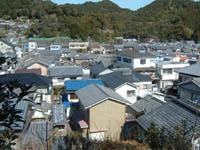 津波でほとんどの家屋が浸水すると予測されているモデル地区となった美波町木岐地区