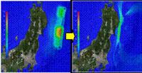 市街地の高台移転検討例 津波シミュレーション検討例
