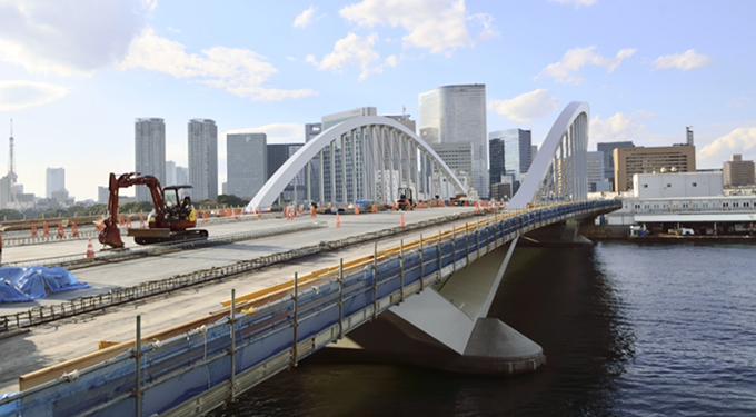 築地大橋(2015年2月撮影)