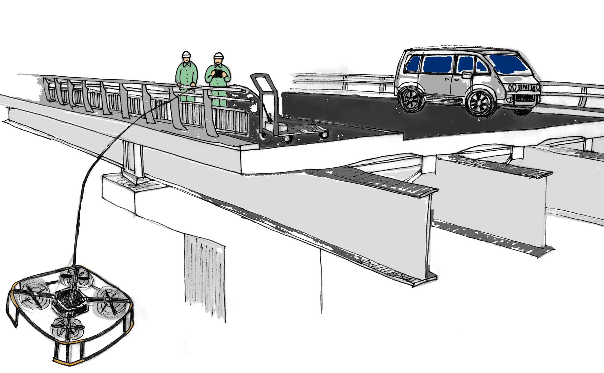 マルチコプタによる橋梁点検2014.8.18